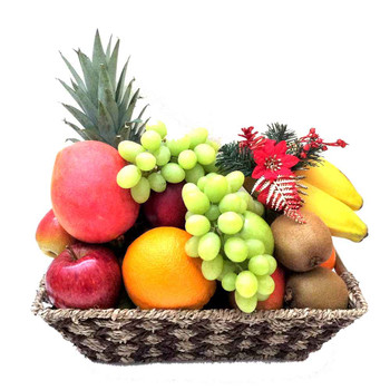 Christmas Fruit Basket Only - Free Shipping Castle Hampers