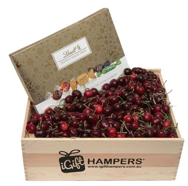 Cherry Christmas Hamper with Lindt Chocolate