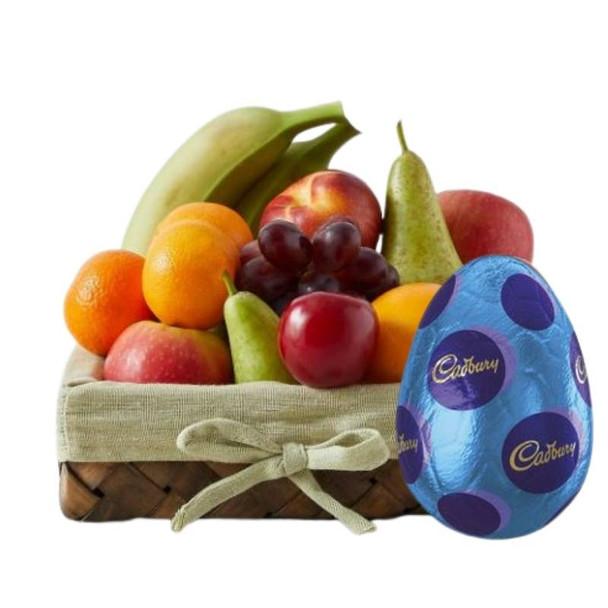 Small Fresh Fruit Basket + Easter Egg
