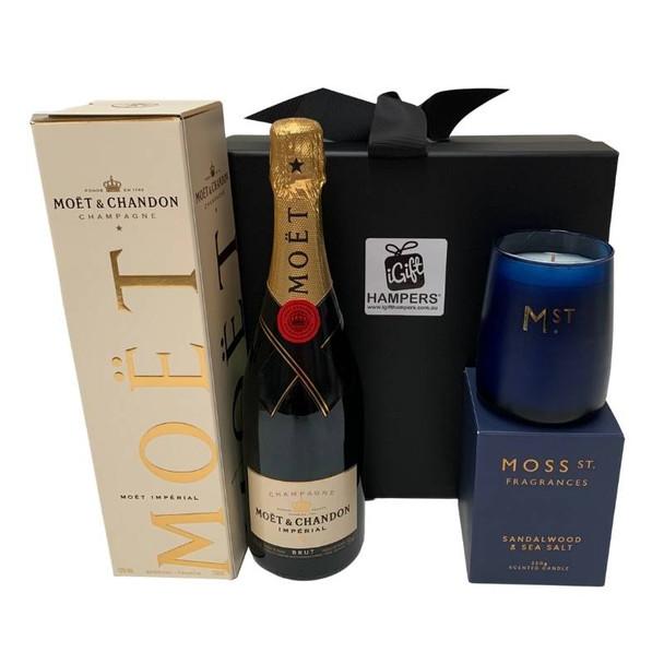 Moet Gift Hampers + Luxury Candle