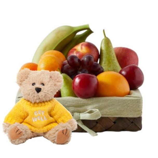 Get Well Baskets + Message Bear