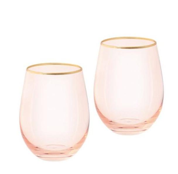 Cristina Re Rose Tumbler Glasses Set of Two