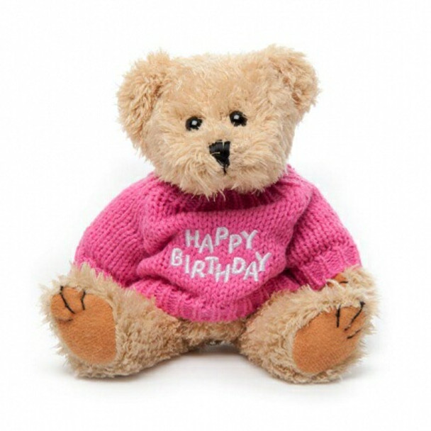 "Message Bear - ""Happy Birthday"" Pink"