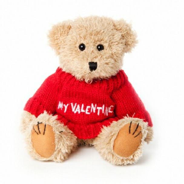 """Message Bear - """"My Valentine"""" Red"""