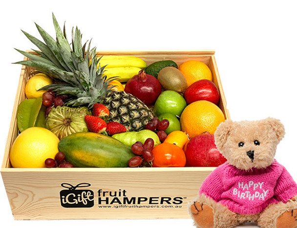 Happy Birthday Gift Hamper with Pink Message Bear