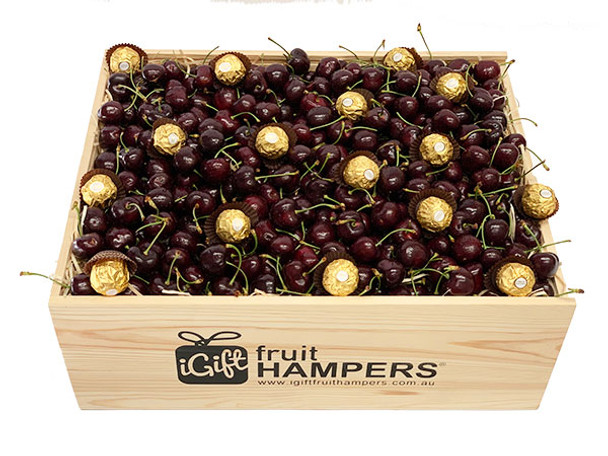 Fruit Hamper with Cherries and Ferrero Chocolates