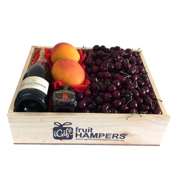 Summer Sydney Moet Champagne Cherry + Mango Hamper