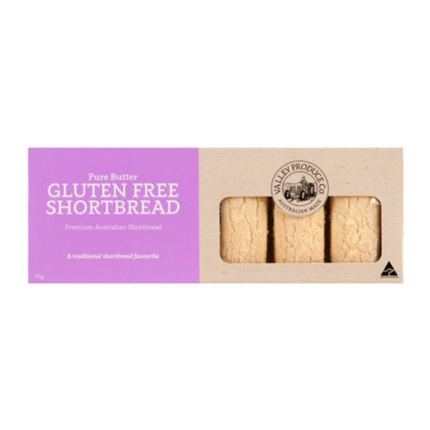 Shortbread Gluten Free Pure Butter 175g - Valley Produce Co