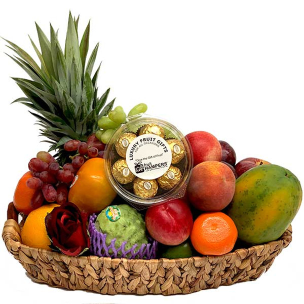 Fruit Gift with Ferrero Chocolates