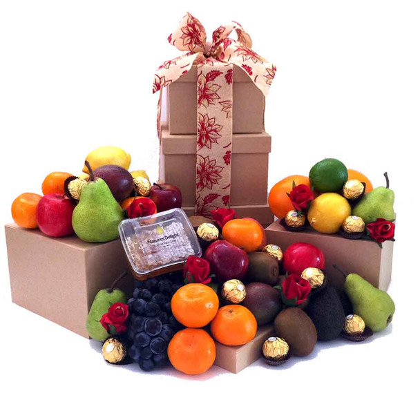 Fruit Hamper Towers - The perfect gift for all Occasions - Free Shipping