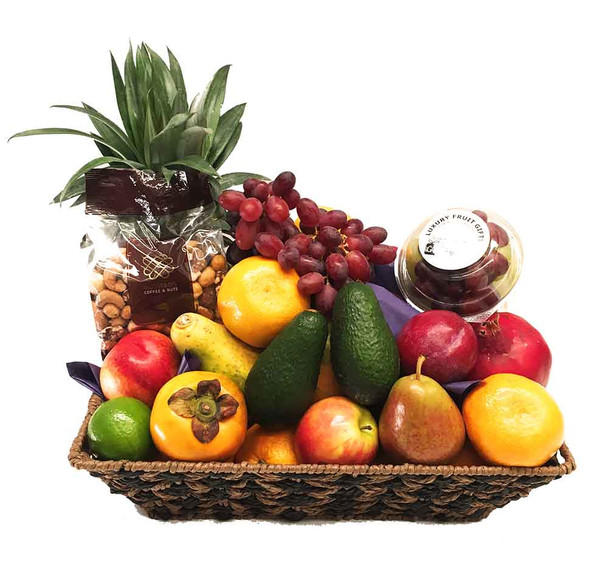 Fruit Basket + Gourmet Mixed Nuts Delivered Free Australia