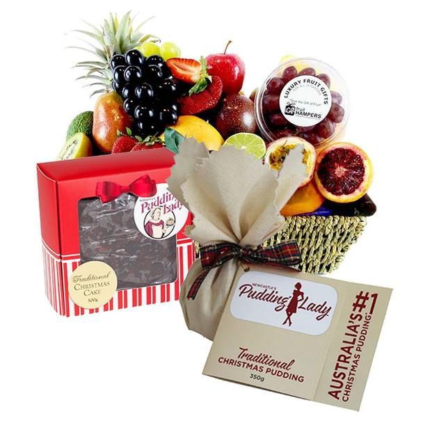 Christmas Hamper   Xmas Pudding & Cake Gift