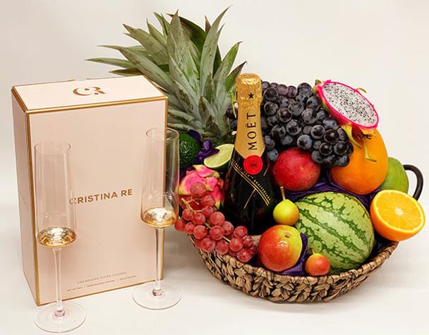 Moet Gift Hamper with Champagne Glasses
