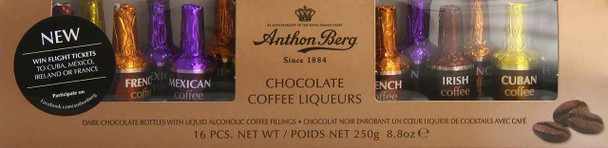 Anthon Berg Chocolate Coffee Liqueurs 250 g (16-Piece)