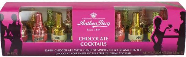 Anthon Berg 16 Assorted Cocktail Liqueur Bottles 250 g