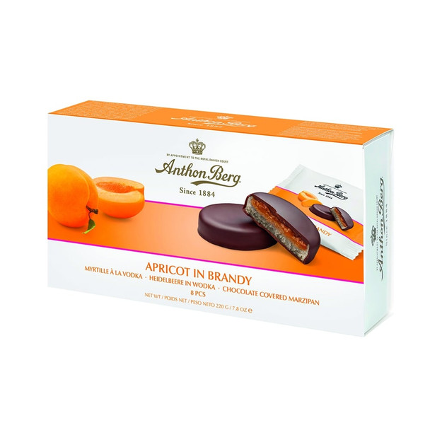 Anthon Berg Apricot in Brandy Marzipan 220g