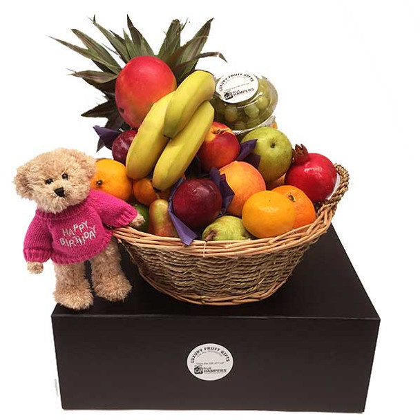 Birthday Hamper with Pink Cute and Cuddly Bear