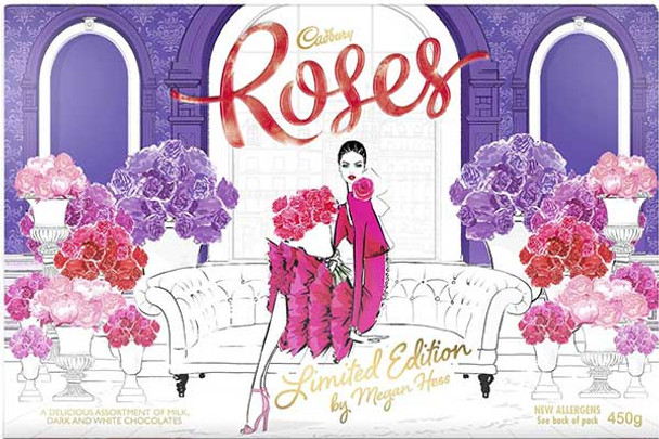 Cadbury Roses Limited Edition by Megan Hess