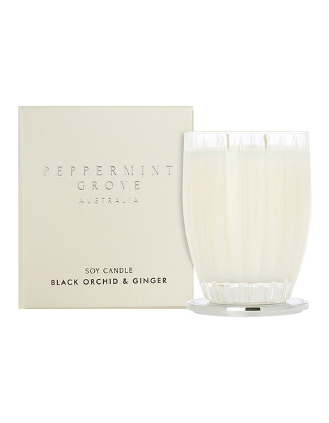 Black Orchid & Ginger Large Candle 350g - Peppermint Grove Candles