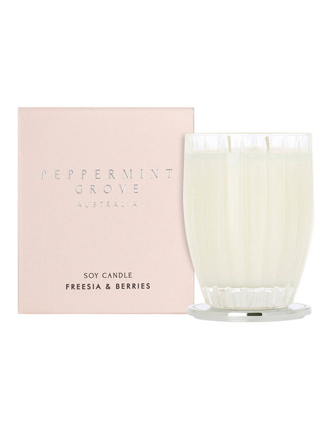Fresia & Berries Large Candle 350g - Peppermint Grove Candles