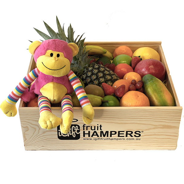 New Baby Gift Hamper - Funky Monkey Pink