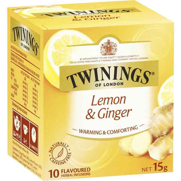 Twinings Lemon + Ginger Tea
