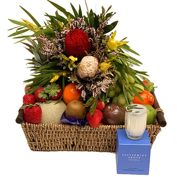 Gift Baskets Delivered + Native Flowers + Luxury Candle