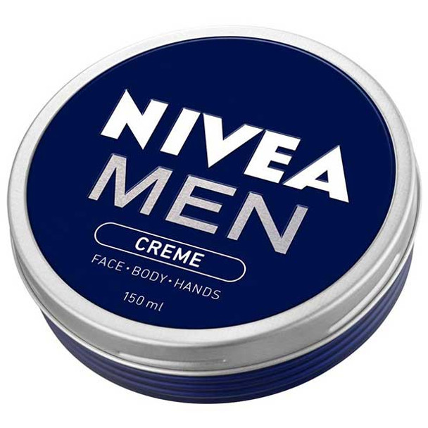 NIVEA MEN CREME cares for your skin by giving it a boost of hydration and preventing it from drying out.