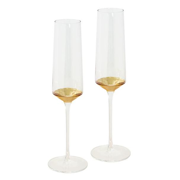 Cristina Re Champagne Flute Estelle Gold Set of 2