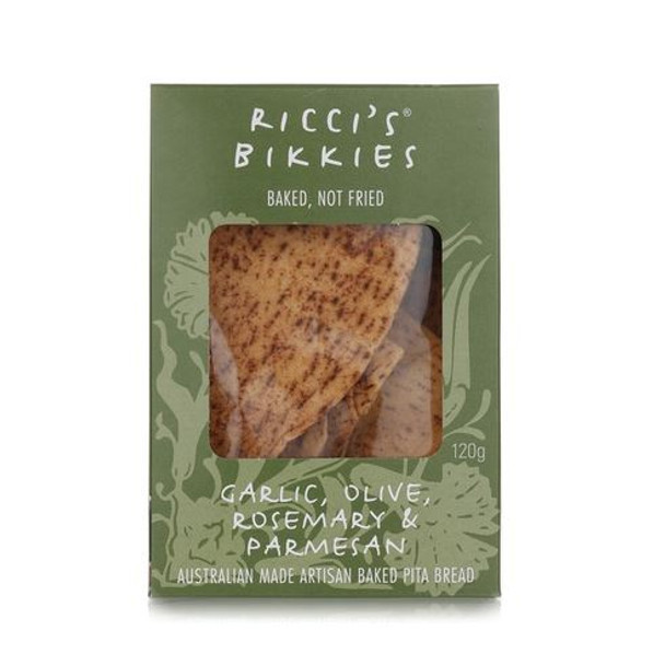 Riccis Bikkies Box Garlic, Olive, Rosemary & Parmesan 120g