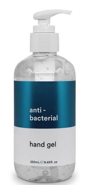 Anti-Bacterial Hand Sanitiser Gel 250ml - Helps Protect From Viruses & Germs
