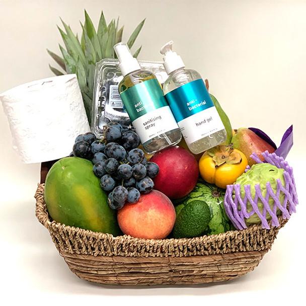 Get Well Gift Basket + Hand Sanitiser + Sanitiser Spray