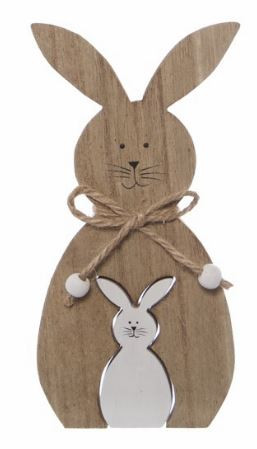Wooden Rabbits Home Decor
