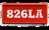 826LA Red Box Logo Patch