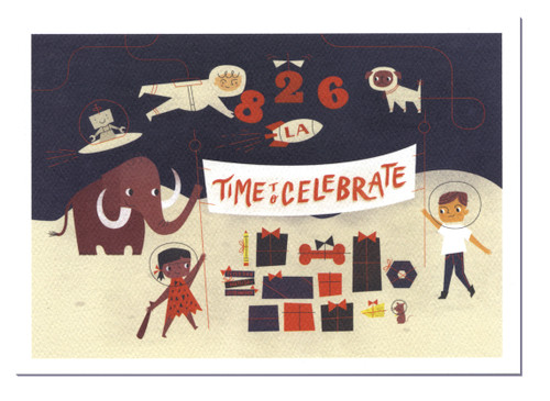 2015 Holiday Card - Single - Time to celebrate - mammoth