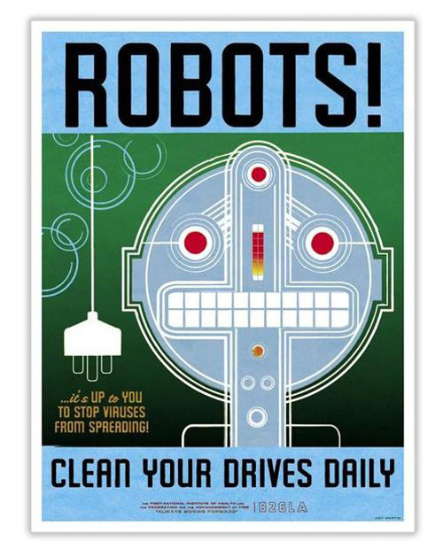 Time Travel Poster - Robots