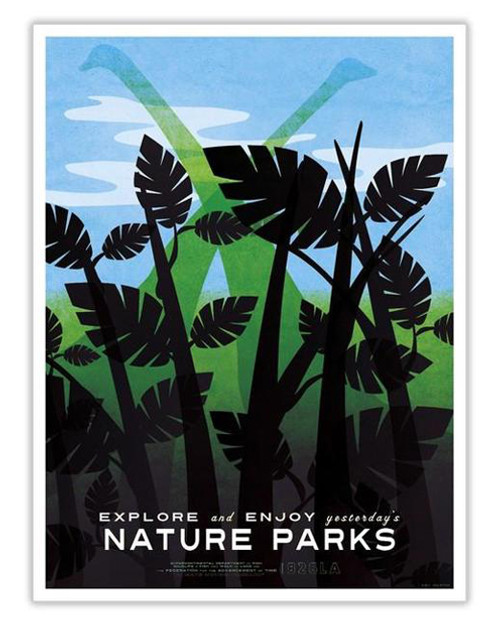 Time Travel Poster - Nature Parks