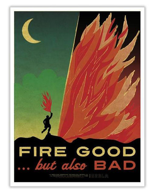 Time Travel Poster - Fire