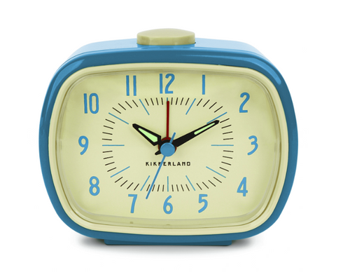 Blue Retro Alarm Clock