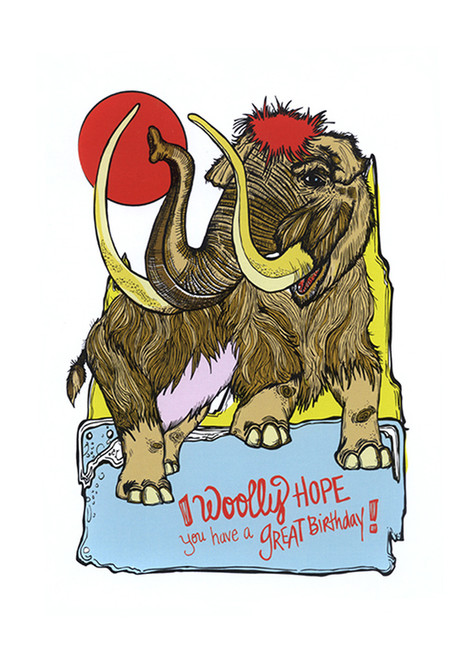 Woolly Mammoth Birthday Card