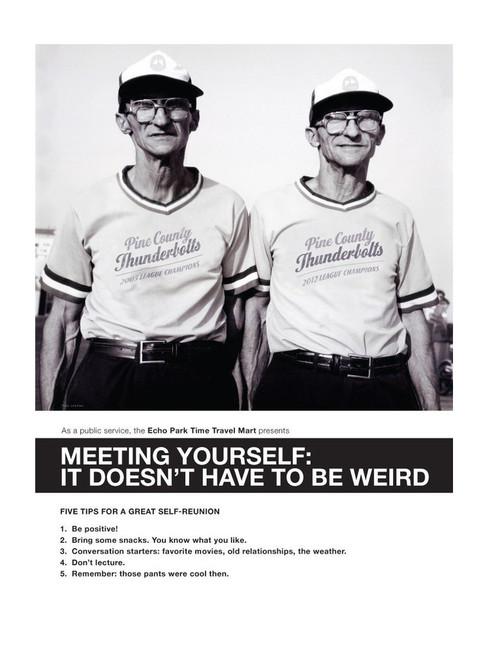 Meeting Yourself 8x10 Print