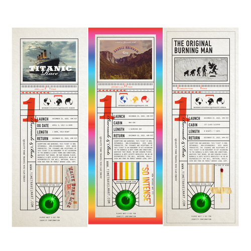 Time Travel Destination Tickets - Bookmarks