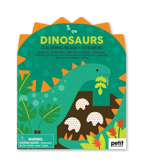 Dinosaurs Coloring Book with Stickers