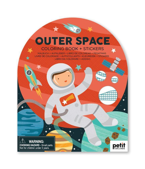 Outer Space Coloring Book with Stickers