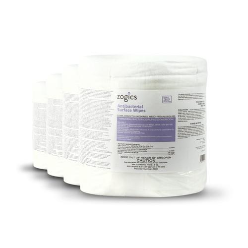 Zogics Antibacterial Gym Wipes 4 rolls/case