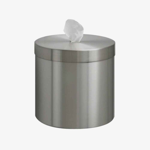 Glaro Wall Mounted Disinfectant Wipes Dispenser, Upward Dispensing, Satin Aluminum Finish