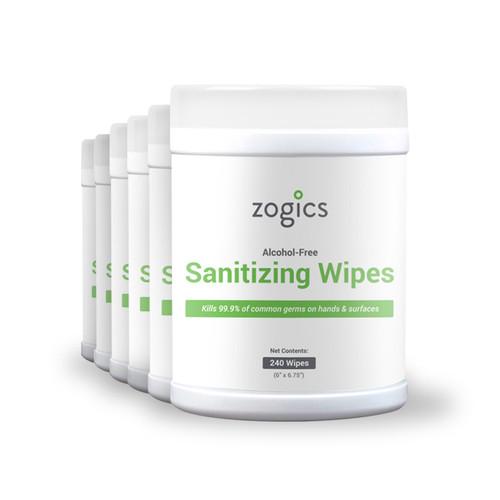 Zogics Hand Sanitizing Wipes Tub 6 tubs/case