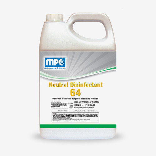 ND64 Neutral Commercial Disinfectant & Detergent Concentrate, Lemon Scent (1 gallon)