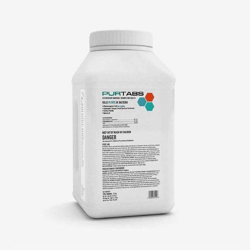 PURTABS ESPT13.1G Disinfecting Tabs (256 tablets/tub)(2 tubs/case)
