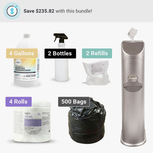 The Cleaning Station All-In-One Antibacterial Wipes Bundle